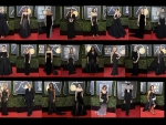 2018 Golden Globe Black Outfit Collage