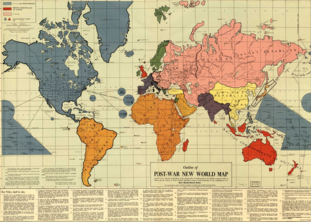 Post-war map - map, maps, history