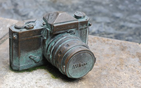 Weathered Camera - abstract, photography