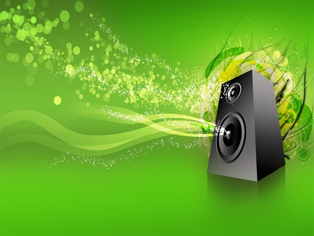 music jpg - speaker, music, lime green