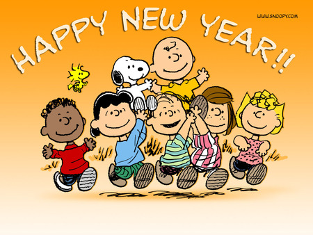 Happy New Year - Peanuts, snoopy, charlie brown, happy new year, Woodstock