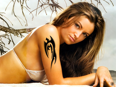 MARIA - tatu, beautiful, kanellis, women, sexy, beach, wwe, girl, tattooes, logo, woman, diva, sher, maria, tattooed, sher ali, tattoo, tato, hot, girls, divas