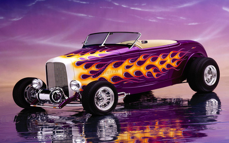 Flame hot rod - hot, flame, rods