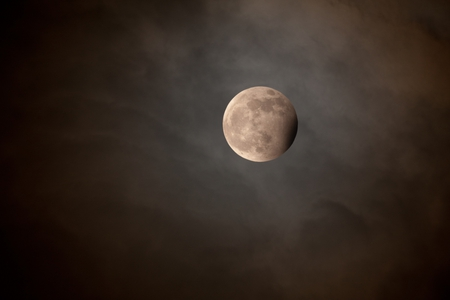 Lunar Eclipse with Blue Moon - space, moon, blue moon, satellites, eclipse