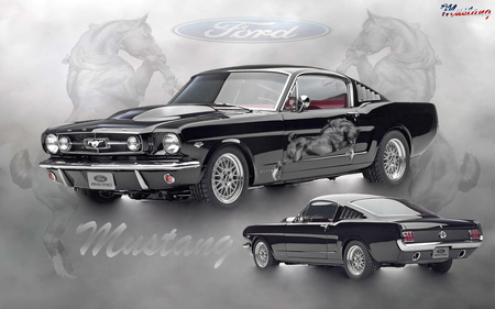 1965 Ford Mustang - 1965, hot, cool, mustang