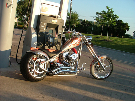 Running On Empty, Running Hard.............. - motorcycles, harley davidson, choppers