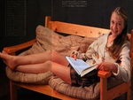 Ariana Richards relaxing