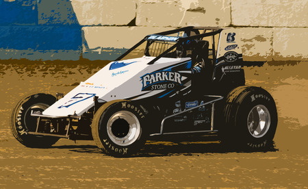 USAC Sprint Car - sprint, speedway, racing, sponsor, car, dirt, track