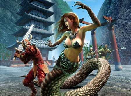 Everquest - warrior, everquest, game, snake girl, rpg, video game