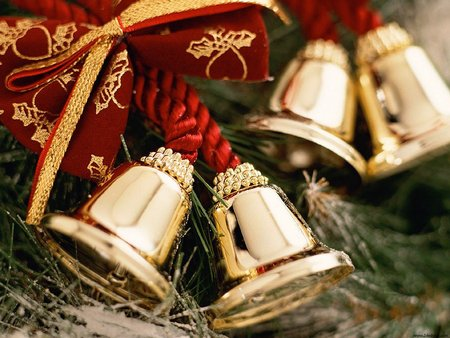 Christmas Bells - feast, christmas bells, holidays, merry christmas, xmas, christmas, cold, x-mas, winter, bells