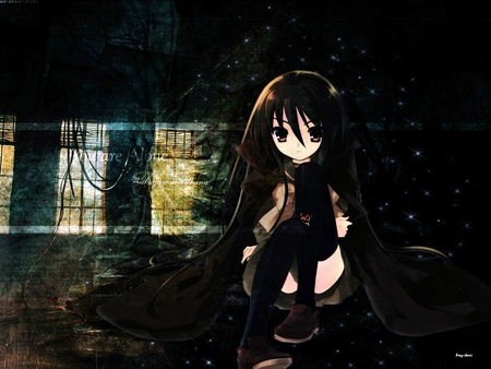 You are alone other anime background wallpapers on - Alone anime girl ...