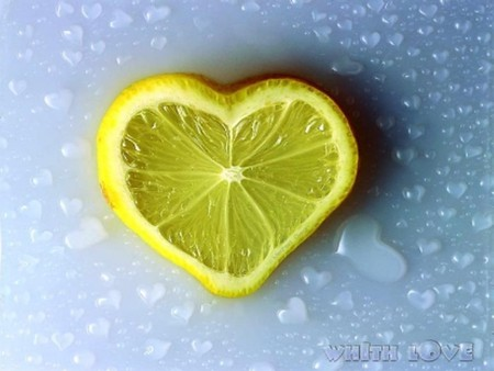 Lemon Love - citrus, love, lemon, sweet, heart, sour