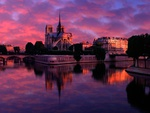Notre Dame at Sunrise Paris France