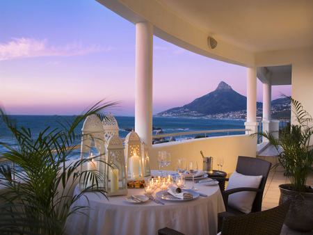 Romantic dinner - 12, balcony, dinner, hotel, cape town, mountain, sea, view