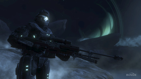 Sniper - wallpaper, cool, halo, sniper, screen shot, map, halo reach