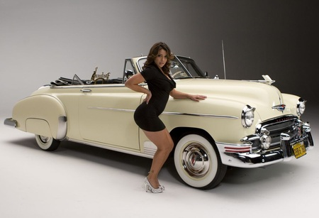 Classic Car Model Girls And Cars Cars Background Wallpapers