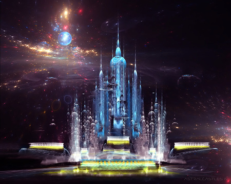 Astral castle abstract wallpaper - ImgSnap.com