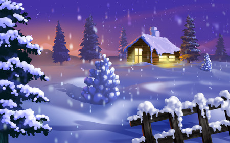 Silent Winter - holidays, cold, 3d and cg, widescreen, xmas, winter, christmas