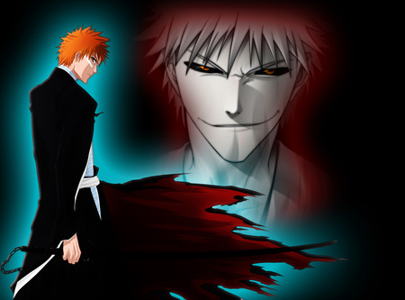 Ichigo Bankai-Hollow - hollow, ichigo, bleach, white, anime