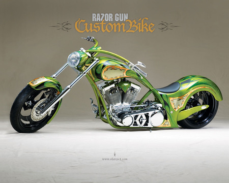 Razor Gun Custom-Bike - custom, bike, chopper