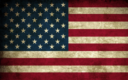 Worn US Flag - patriotic, patriotism, blue, us flag, american, white, worn, red, stars and stripes, flag