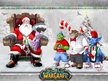 Warcraft Christmas - warcraft game, wow, christmas, world of warcraft