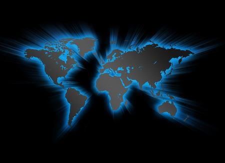 World Map - earth map, black, abstract, world map, blue, map, earth, world, 3d