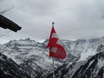 The Swiss Flag and its Mountains