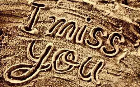 I Miss You... - beautiful, lovely, romantic, i miss you, sand, beach, miss you, love, beaches, nature, romance