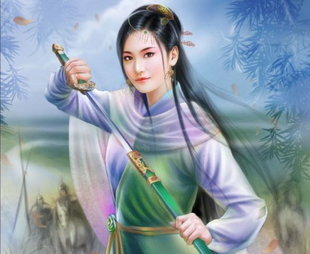 Ancient Chinese - beautiful, pretty, beauty, sexy, anime, girl, scenic, female, nice, oriental, scene, warrior, cute, blade, weapon, anime girl, hot, chinese, sword, lively, sweet