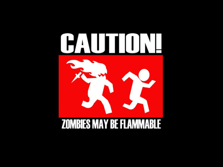 Zombie - zombie, flame, caution