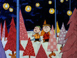 charlie brown and linus aluminum trees