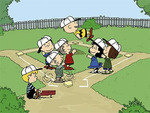charlie brown and friends in baseball game