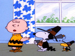snoopy and woodstock dressed as mayflower pilgrims