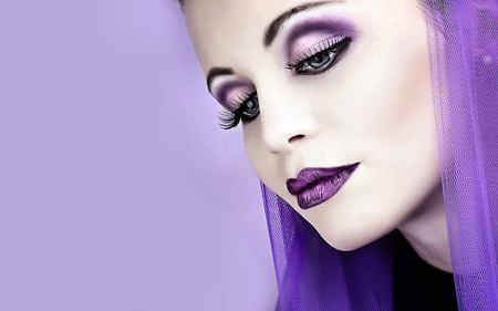 Purple - sexy, woman, photography, makeup, purple, face, people, girl, model, eyes, jackki, beautiful, beauti, female
