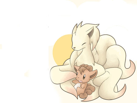 Vulpix and Ninetales - pokemon, pikachu, brock, ash, may, max, black, misty