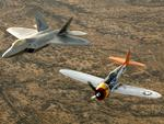 P 47 Thunderbolt and F 22 Raptor