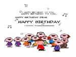 charlie brown birthday card