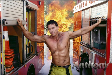 Hot fireman - man, fireman, fire trucks, muscles, fire, trucks, torso