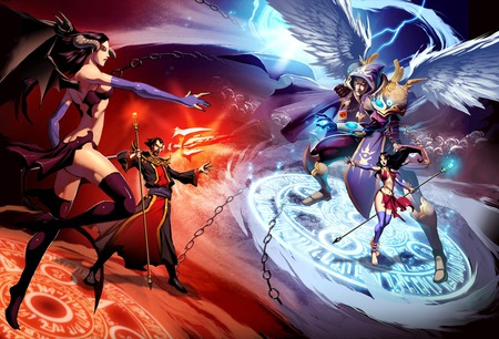good vs evil other amp anime background wallpapers on