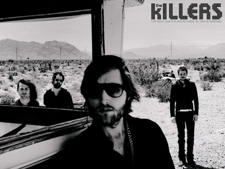 The Killers - band, american, black and white, the killers