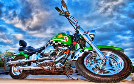 HD Bike - cool, motor bike, harley-davidson, beauty