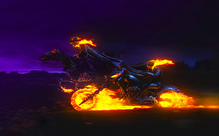 Ghost Rider - Fantasy & Abstract Background Wallpapers on ...