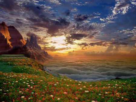 Fantasy - earth, flower, places
