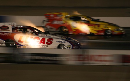 Funny Cars At Night Auto Racing Sports Background Wallpapers