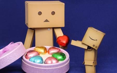Take my heart - heart, robot, danbo