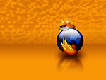 Firefox in orange background