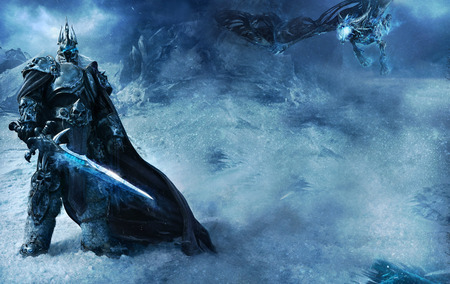 LichKing and Sindragosa - wotlk, lich king, world of warcraft
