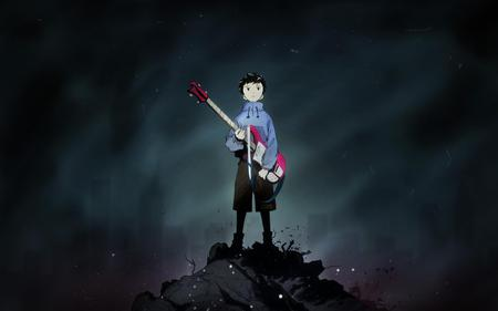 Naota - cool, boy, wtf is going on here, rubble, king, trash, smoky, flcl, sexy, anime, female, guitar, cute hot