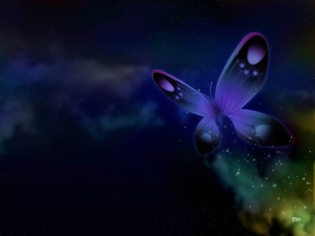 Fantasy Butterfly - dark, butterfly, abstract, butterflies, art, fantasy